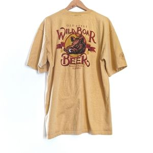 Vintage Crazy Shirts Wild Boar Beer T-Shirt XL